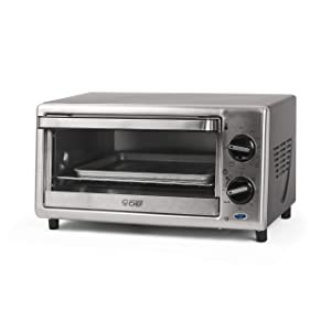 Commercial Chef 4 Slice Toaster Oven, 10-Liter, Stainless Steel, CHTO2010S