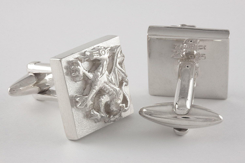 ZAUNICK Dragon Cufflinks Sterling Silver Handcrafted