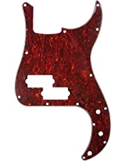 Musiclily 13 Hole P Bass Pickguard for 4 String Fender USA/Mexican Standard Precision Bass Guitar , 4Ply Red Tortoise