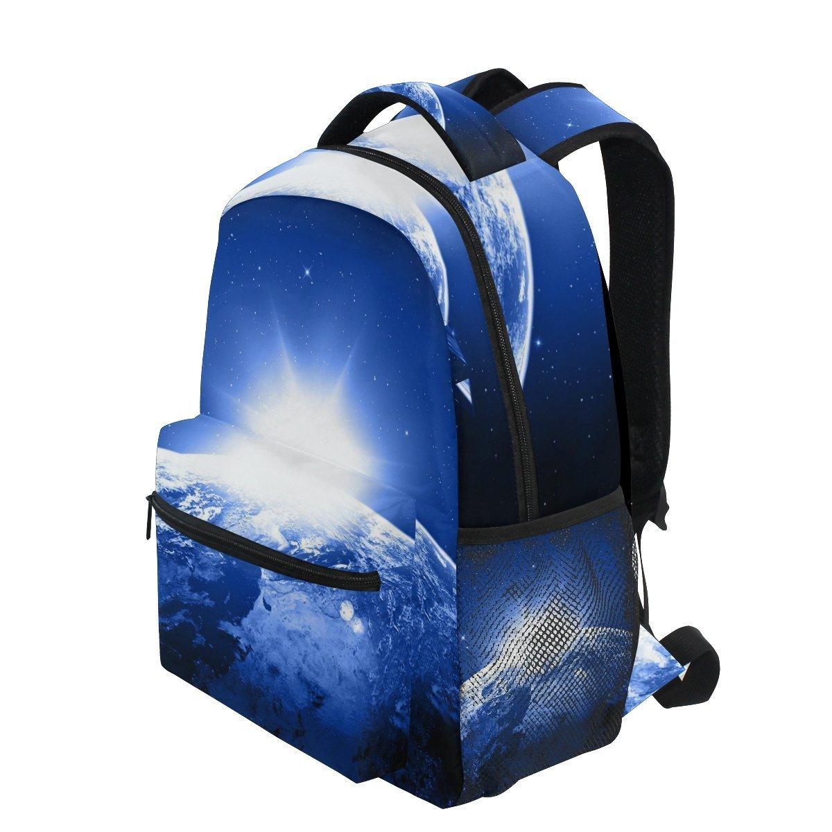 AHOMY ガールズ スクールバックパック ギャラクシー 星 宇宙 大学 ブックバッグ レディ 旅行 リュックサック   B07G48DJSB