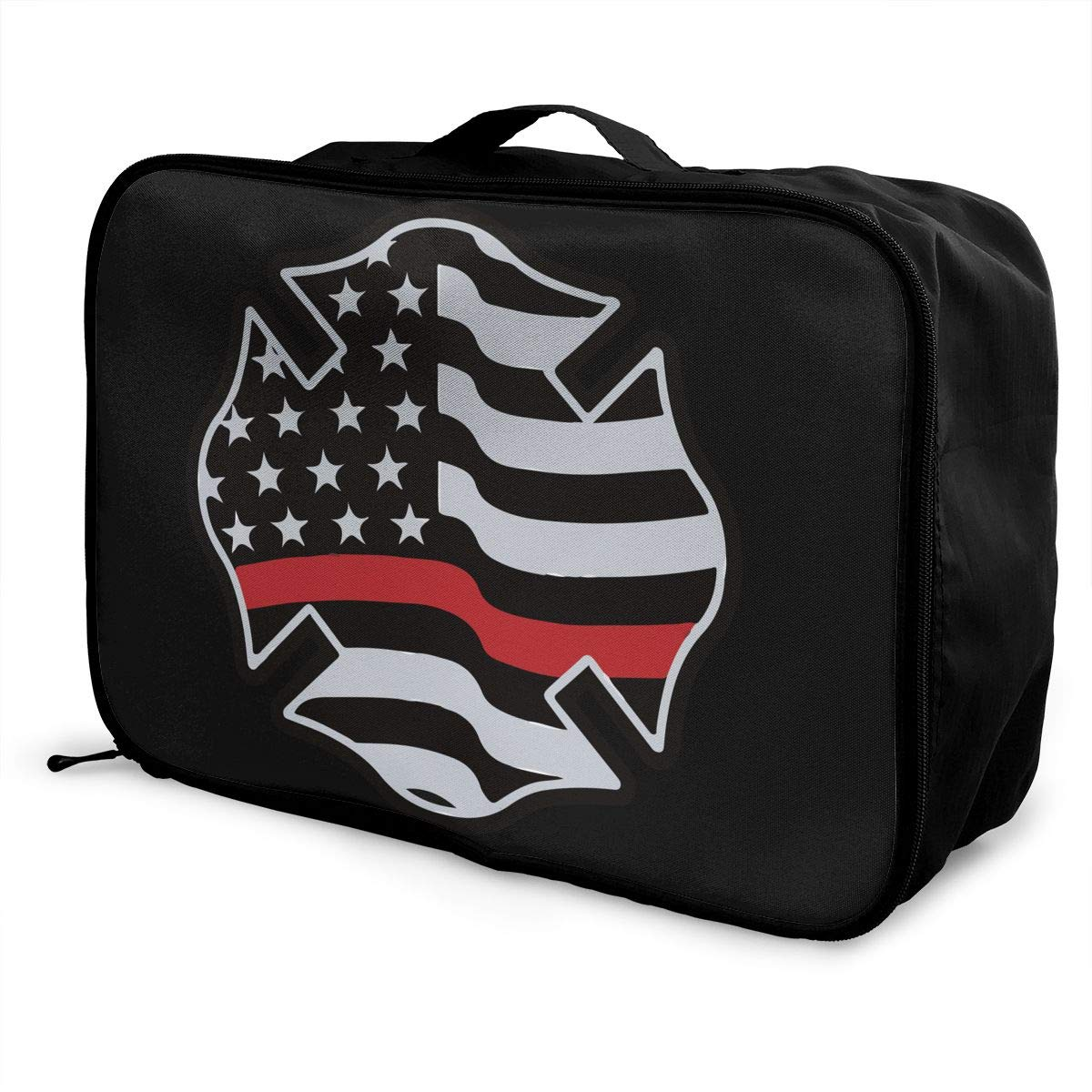 YueLJB Firefighter Lightweight Large Capacity Portable Luggage Bag Travel Duffel Bag Storage Carry Luggage Duffle Tote Bag