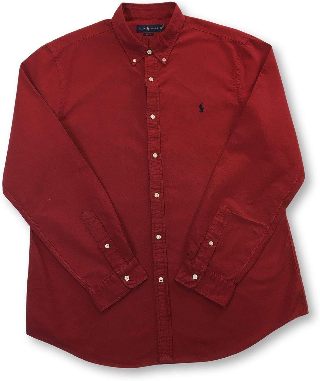 Ralph Lauren Mod. 710767447 Camisa Oxford Lavado Slim Fit Hombre Rojo XXL: Amazon.es: Ropa y accesorios