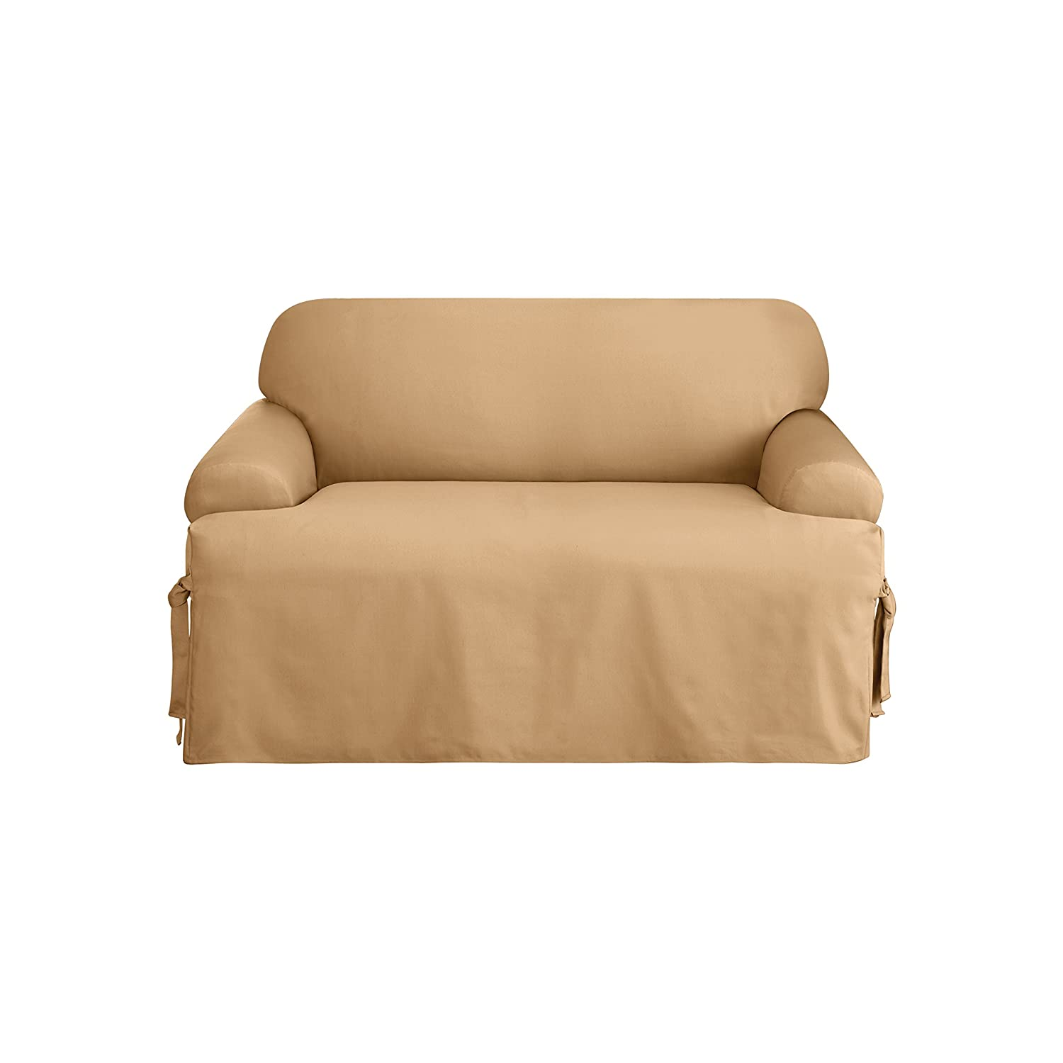 Amazon Sure Fit Logan 1 Piece Sofa Slipcover Camel