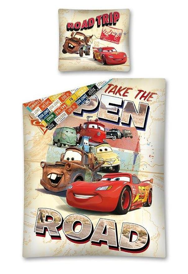 DP Disney Cars dise/ño de Cars Reversible, 140 x 200 cm, Funda de Almohada de 70 x 80 cm, 100/% algod/ón Juego de Cama