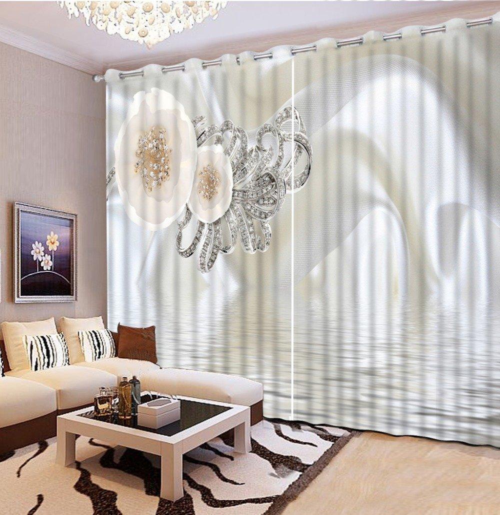 Sproud 高品質の 3 次元のプリントカーテン中国ラグジュアリー窓カーテンベッドルームリビングルームプリントカーテン 260 Dropx 300 幅( cm ) 2 枚  260dropX300wide(cm) B0784B3BKP
