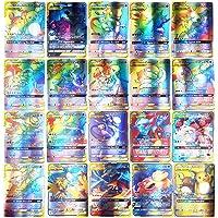 SASKATE Pokemon-kaartenset, 150 stuks, met 80 stuks nieuwe dag-teamkaarten + 40 stuks Mega-Ex-kaarten + 20 stuks Ultra…