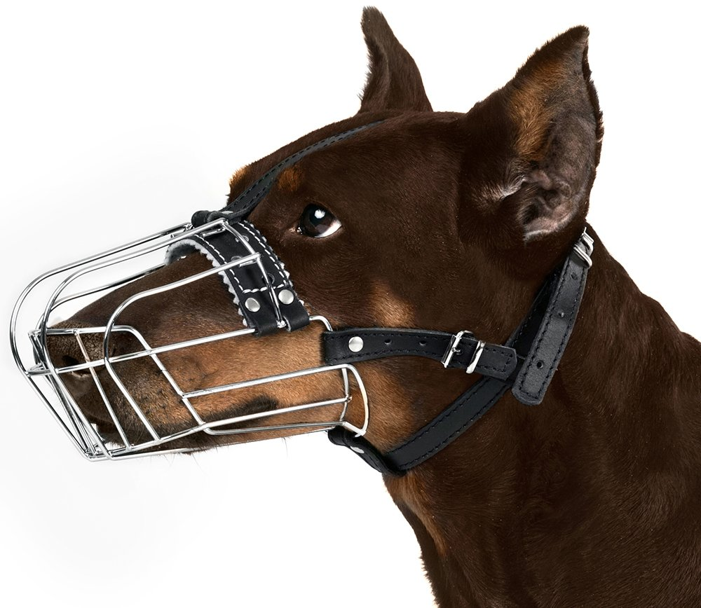 BRONZEDOG Wire Basket Dog Muzzle