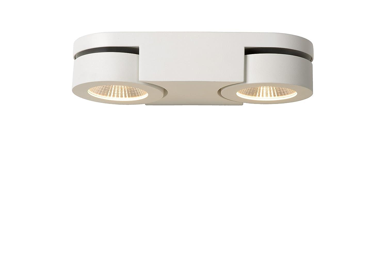 Lucide Mitrax - Wandstrahler - LEDDim. - 2X5W 3000K, Aluminium, Integriert, 5 W, weiß, 26 x 10 x 12 cm