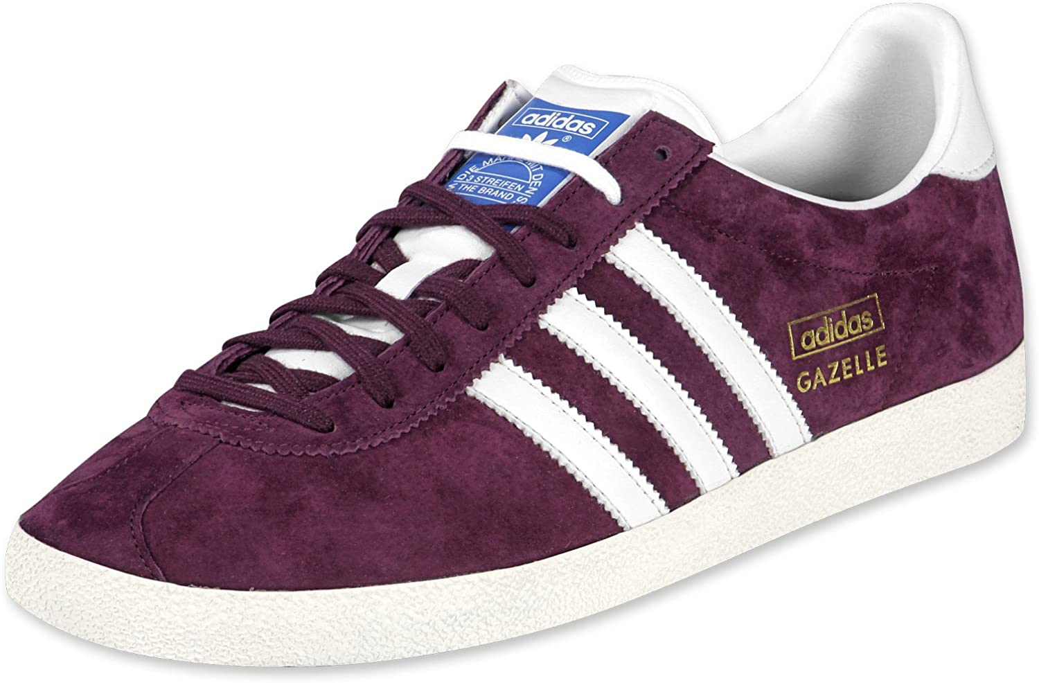 número Discurso huella dactilar  adidas Gazelle, Maroon/White Uk Size: 9: Amazon.co.uk: Shoes & Bags