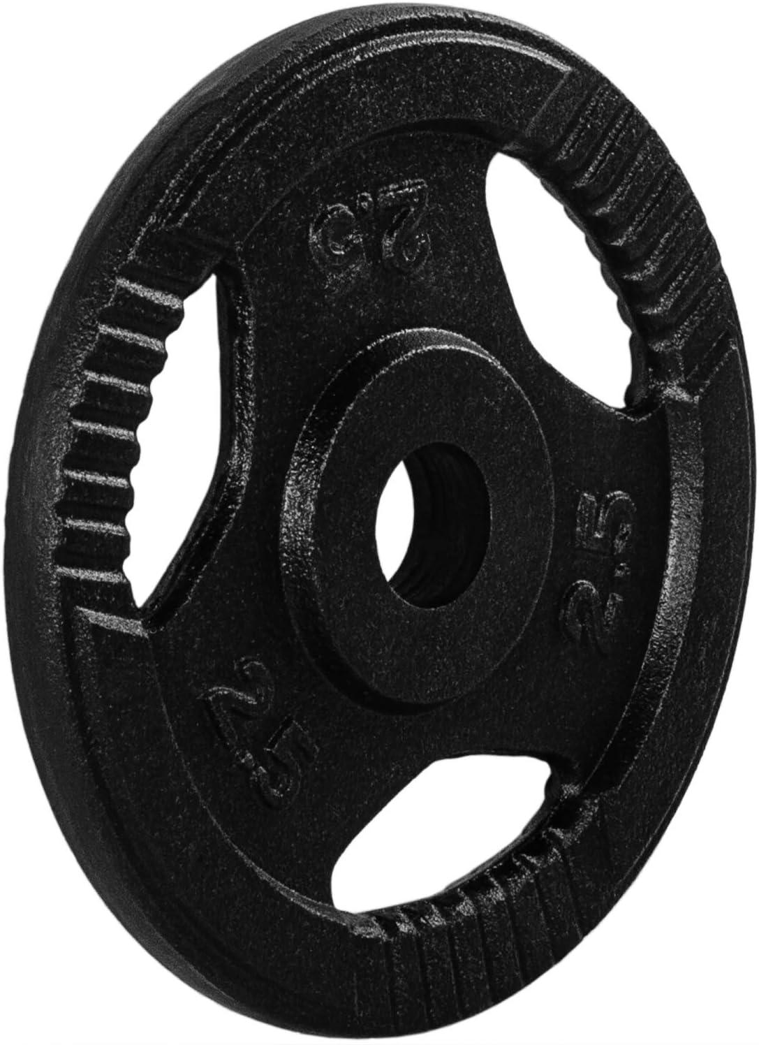 Movit/® Hantelscheiben Set PRO Gusseisen mit Griff 0,5kg bis 20,0kg Gewichtsscheiben Set schadstoffgepr/üft Gewichte Hantel Bohrung 30//31 mm Standardnorm
