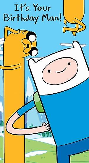 Adventure Time Birthday Card Its Your Birthday Man Amazon