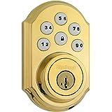Kwikset 99100-043 SmartCode ZigBee Touchpad Smart Lock featuring SmartKey, Lifetime Polished Brass, Works with Alexa