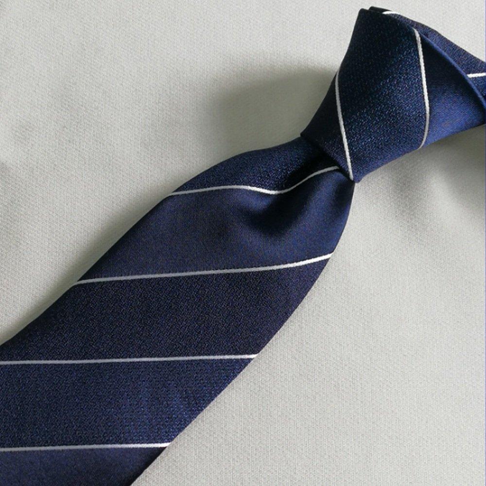 Dig Dog Bone Men Tie Stripe Necktie Blue Emulation Silk Jacquard Weave for Office Party