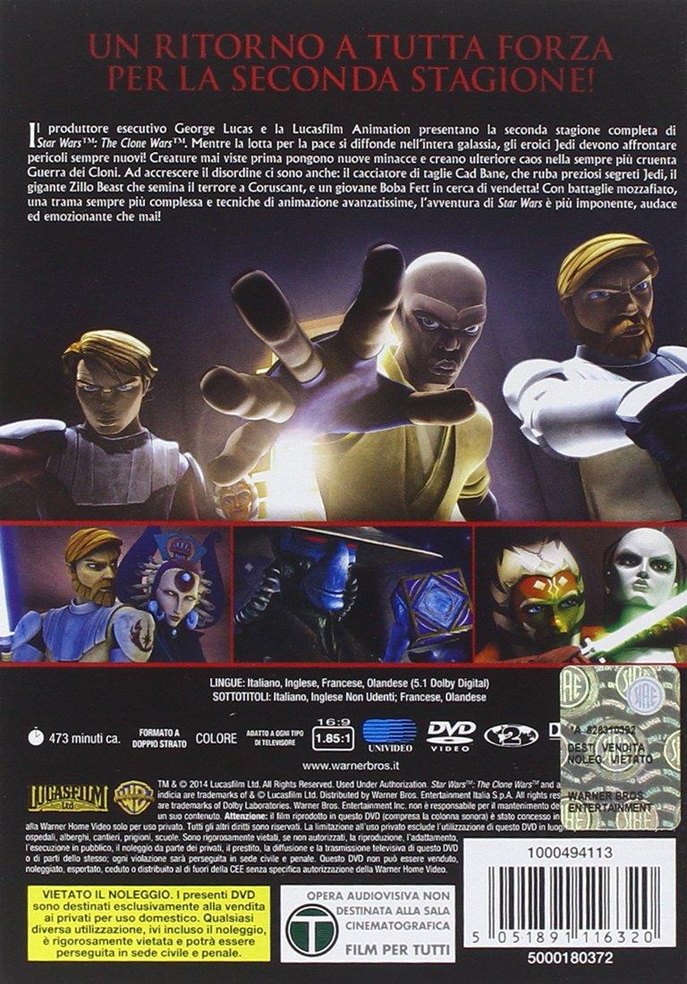 Amazon.com: star wars - the clone wars - season 02 (4dvd) box set dvd Italian Import: animazione: Movies & TV