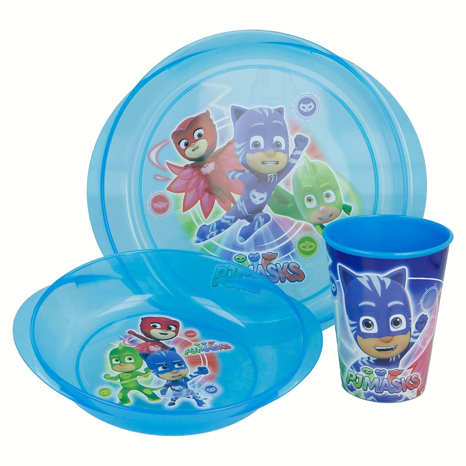 SET MICRO EASY 3 PCS. (PLATO, CUENCO Y VASO) PJ MASKS ...