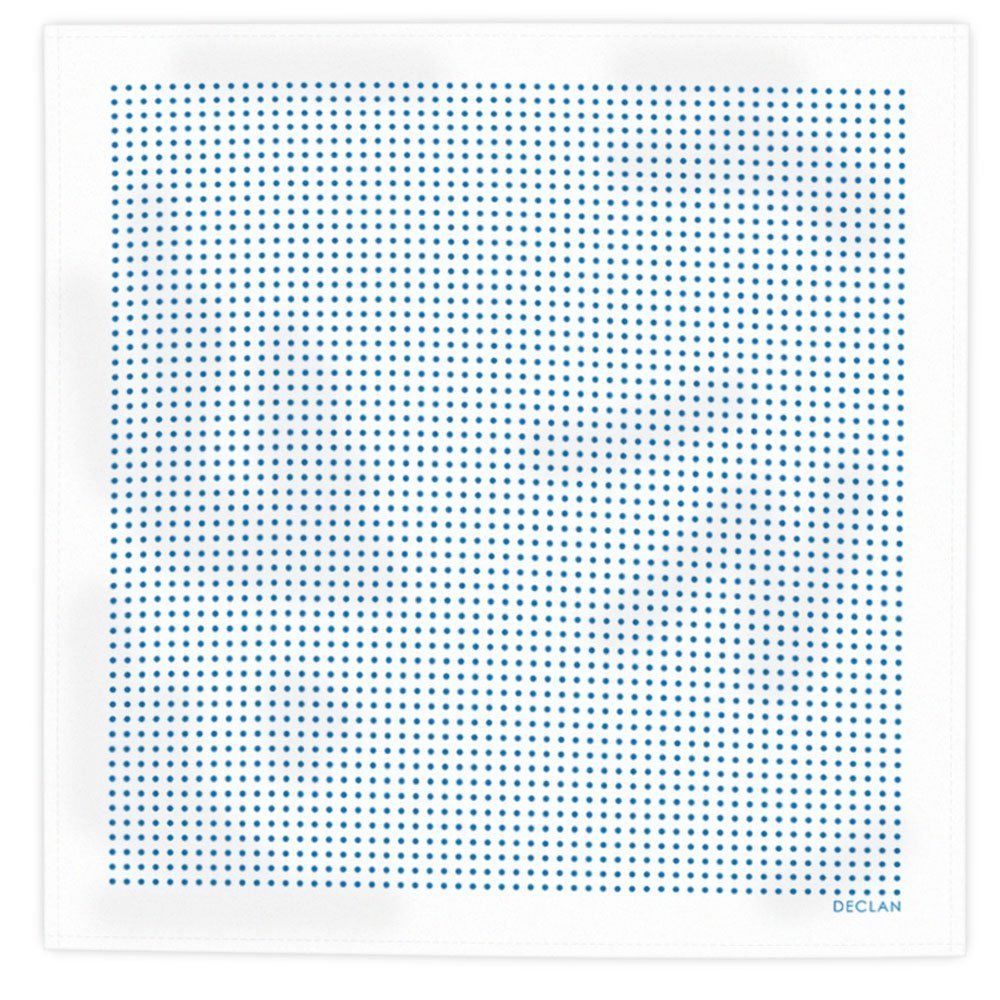 Declan Microfiber Pocket Square, Handkerchief, Cleaning Cloth (Crossword white)