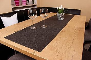 xxl tischläufer tischband aus edlem filz, modernes dunkelgrau (+ ... - Farbe Abwaschbar Küche