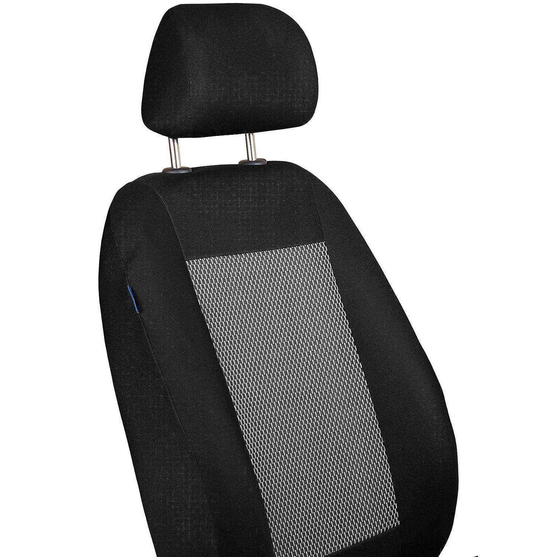 Zakschneider B-KLASSE Vorne Sitzbez/üge Farbe Premium Schwarz-grau mit Weisse Striche f/ür Fahrer und Beifahrer