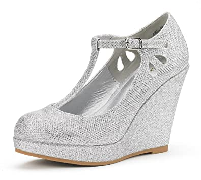 Amazon.com | DREAM PAIRS Women's Ash Wedge Heel Platform Pumps ...