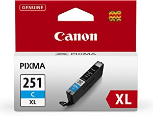Canon CLI-251XL Cyan Ink Tank Compatible to MG6320 , IP7220 & MG5420, MX922, MG5520, MG6420, MG7120, iX6820, iP8720, MG7520, MG6620, MG5620 (CLI-251 C XL)