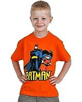 Batman & Robin - T-Shirt rétro enfant - Orange - 100% Coton