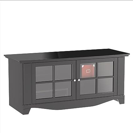 Amazon Com Pinnacle 56 Inch Tv Stand 100606 From Nexera Black