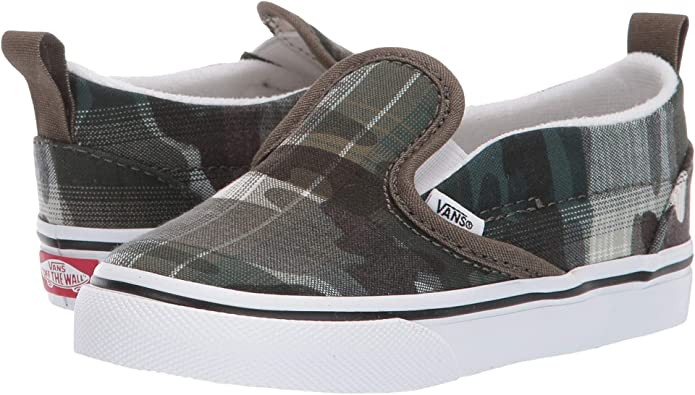 Vans Classic Unisex Kinder Baby Plaid Camo Grape Leaf