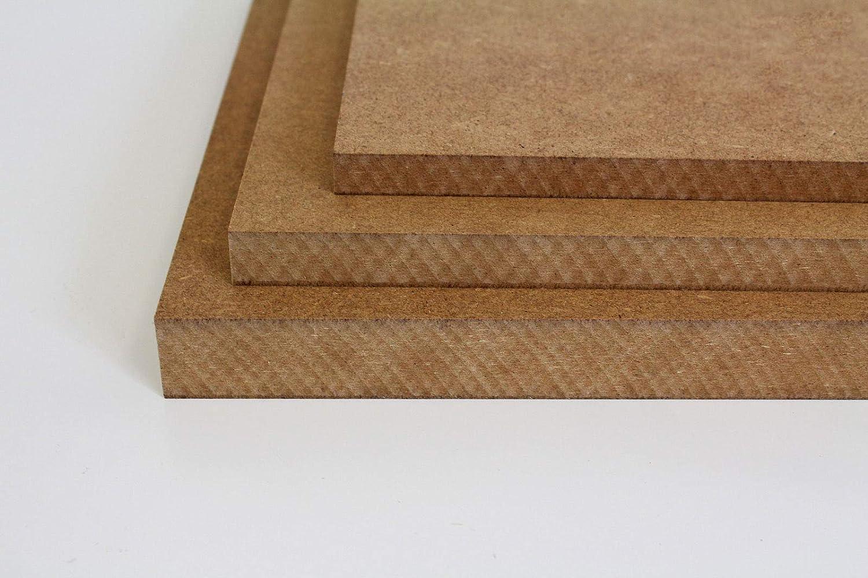 16//19 25mm 70 x 70 cm, 8mm St/ärke MySpiegel.de Tischplatte Holz Zuschnitt nach Ma/ß Holzzuschnitt MDF Platte in 8//12 22