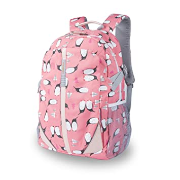 3382b44260 Amazon.com  Lightweight Printed Backpack - School Bag for Teen Girls Boys  Penguin Cartoon Printed Travel College School Bags Color Red  Youke Ola  Direct