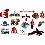 XXL-Großkonfetti * KANADA * mit 45 großen Konfetti-Teilen für eine Motto-Party oder Länder-Party // Party Kinder Kindergeburtstag Konfetti Deko Motto Canada Ahorn