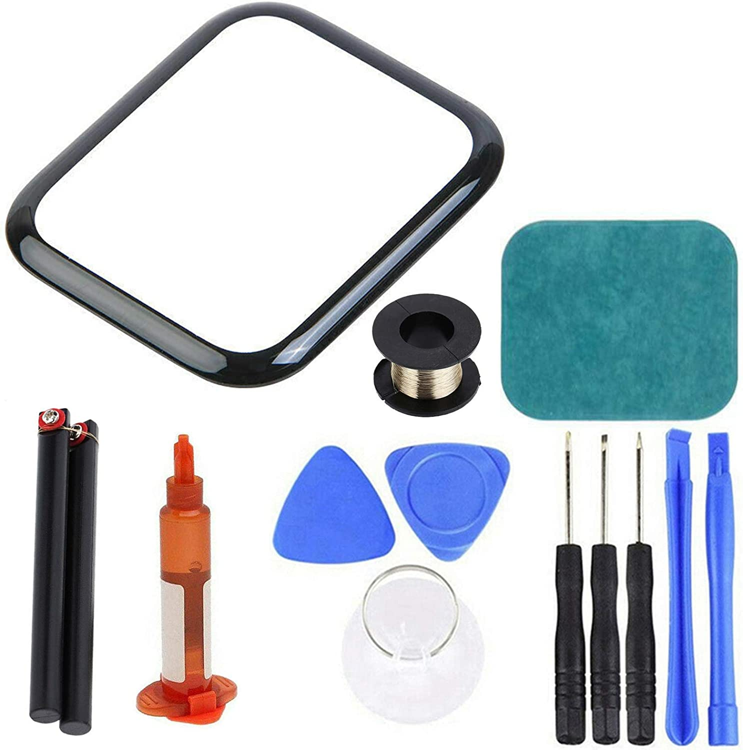 newshijieCOb Front Glass Lens Replacement Screen Repair Kit Compatible with Apple Watch 2/3/4/5/6 Series Compatible with Apple Watch 42mm (Series 3)