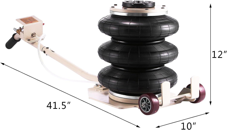 E-HEELP Elektro-Hydraulikboden Wagenheber Automatischer Schlagschrauber Reifenf/üller LED 3 in 1 Autoreparaturwerkzeug Reifensatz ersetzen 5 Tonnen