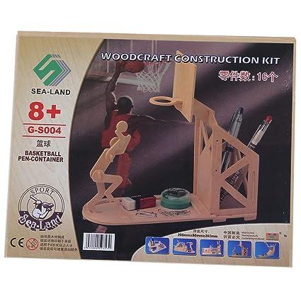Ants-Store - Wooden Basketball Pen Holder Woodcraft
