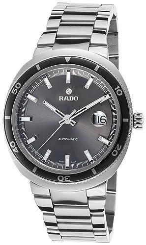 RADO RELOJ DE HOMBRE AUTOMÁTICO CORREA Y CAJA DE ACERO DIAL GRIS R15959103: Amazon.es: Relojes