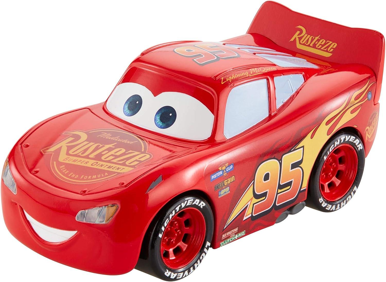 Mattel Disney Cars-Vehículo Turbocarreras Rayo Mcqueen, Coches de Juguetes niños +3 años, Multicolor FYX40