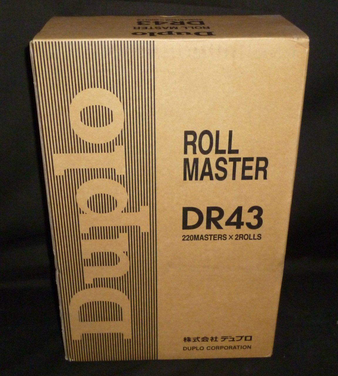 Genuine Original Duplo DR43 Master Rolls for Use In: DP-430/430e Digital Duplicators (DR-43 Masters). A3 Size. Box Contains (2) Masters. (220) Masters per Roll. (440) Masters Total.
