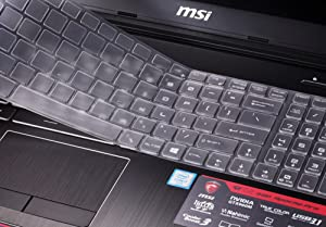 for MSI Gaming Laptop Keyboard Cover for 15.6 inch MSI GL62M GT62VR GF62VR GE63VR GS63 GS63VR GP62, 17.3 inch MSI GL72M GF72VR GV72 GP72 GS73 GS73VR GT73VR GE72 Soft-Touch TPU Protective Skin