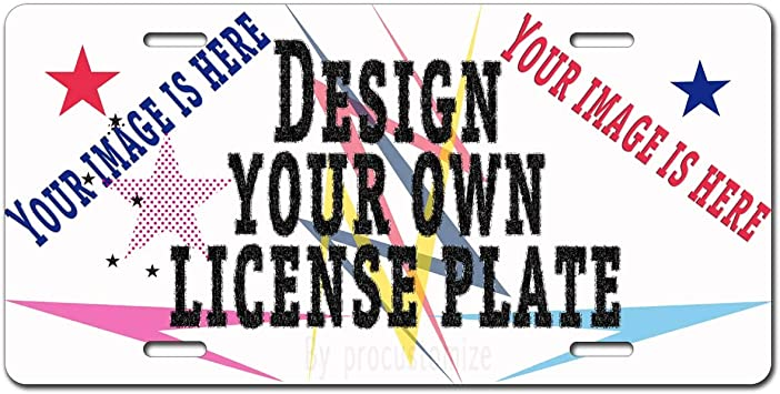Be Burgundy Custom License Plate for Cars Aluminum Novelty License Plates Text or Logo Add Photo