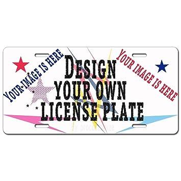 Amazon.com: Placa de licencia personalizada con texto de tu ...