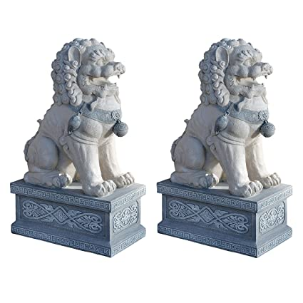 Design Toscano Giant Foo Dog Of The Forbidden City Garden Statue   Set Of 2