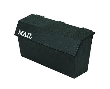 flambeau th6001bl classic wall mount mailbox wood grain texture black