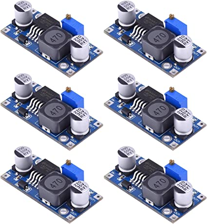 5x DC-DC 3A Buck Converter Adjustable Step-Down Power Supply Module LM2596S