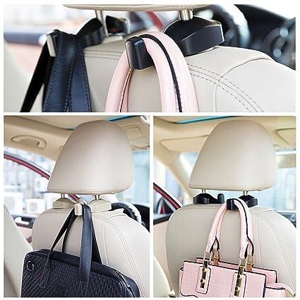 2pcs Car Auto Seat Back Holder Hook Hanger Headrest Organizer for Bag Clothes