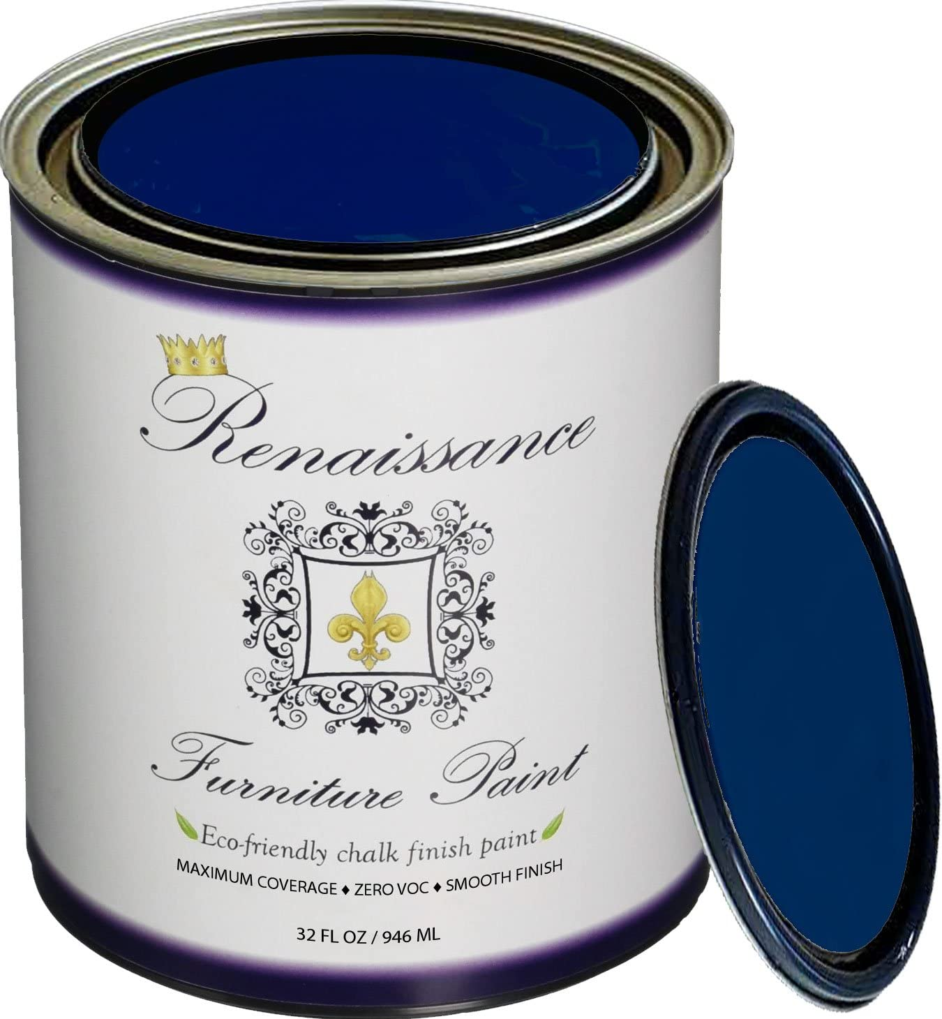 Retique It RFP-P32-BlackIndigo Furniture Paint, 32 oz (Quart), Black Indigo 28