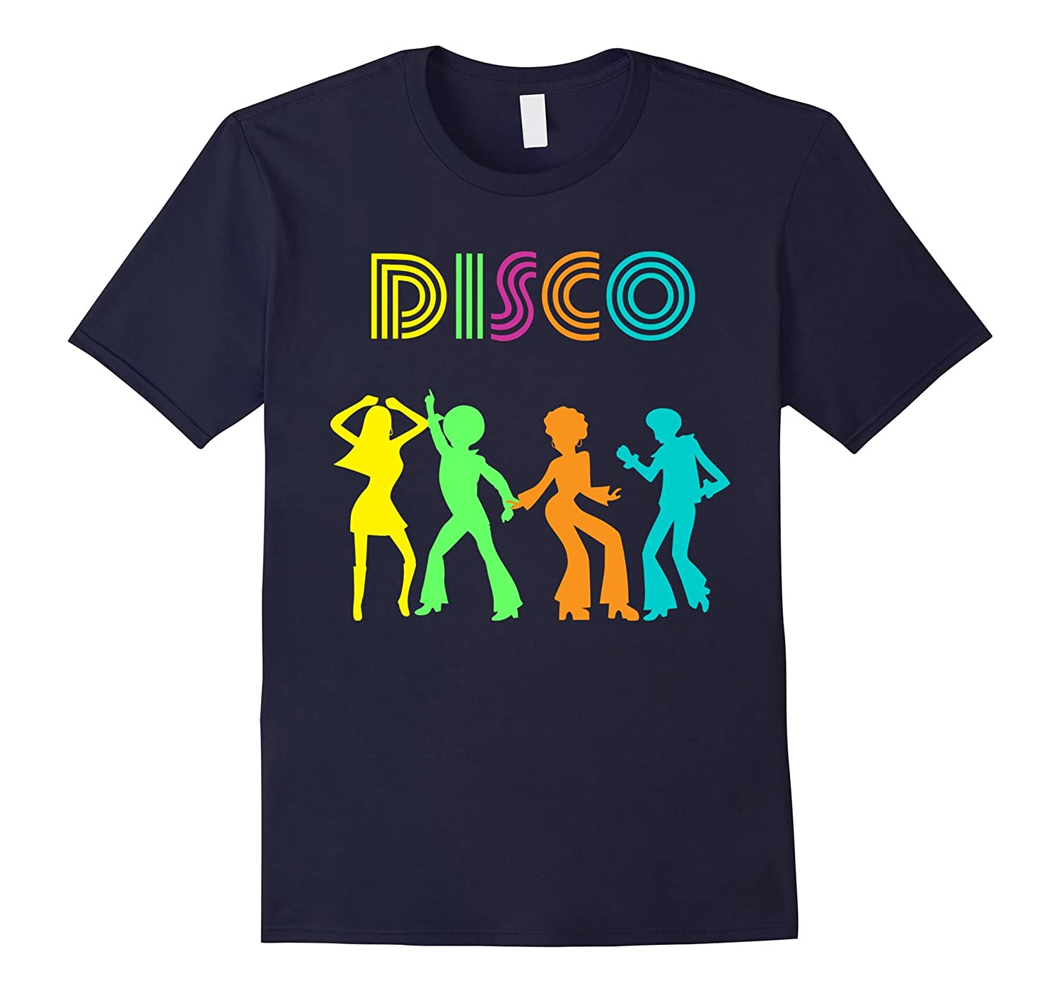 1970's Style Disco Dancers Dancing Retro Design T-Shirt-ah my shirt one gift