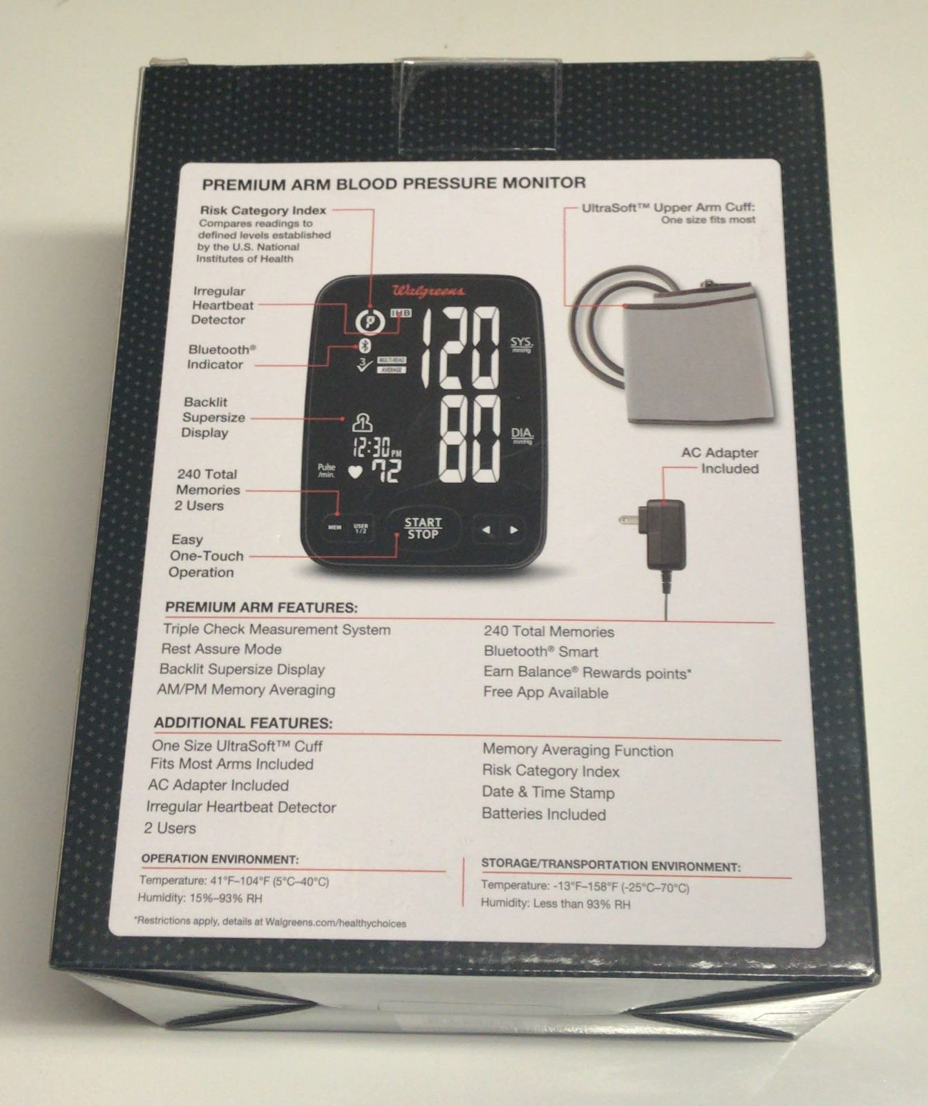 Walgreens Premium Arm Bluetooth Smart Blood Pressure Monitor by Walgreens (Image #2)