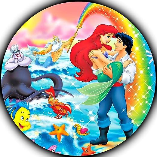 La Sirenita Ariel imagen foto decoración para tarta para ...
