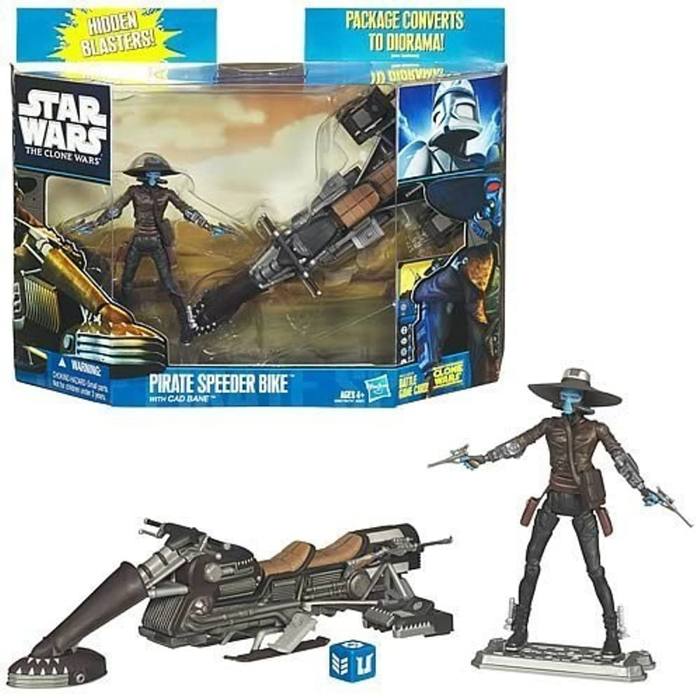 Star Wars Pirate Speed Biker Vehicle and Cad Bane Figure Set (The Clone Wars)