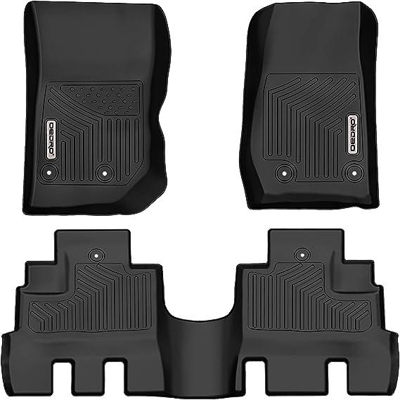 oEdRo Floor Mats Compatible for 2014-2018 Jeep Wrangler JK Unlimited JKU 4 Door (Not for 2 Door and JL Models)