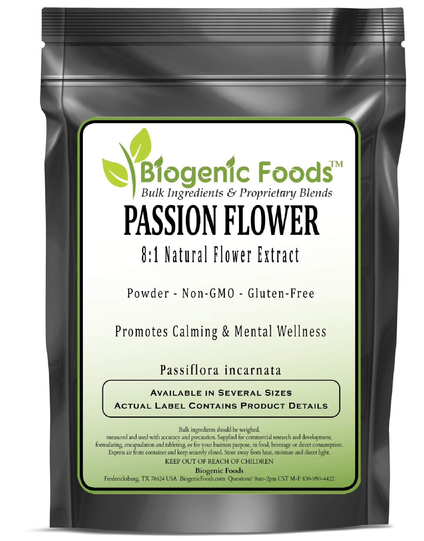 Passion Flower - 8:1 Natural Flower Powder Extract (Passiflora incarnata), 1 kg